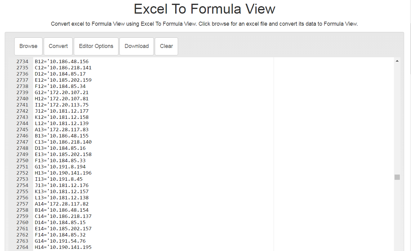 Excel To Formula View